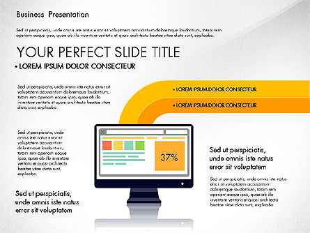 Education Charts and Diagrams: Online Course Presentation Concept #03233
