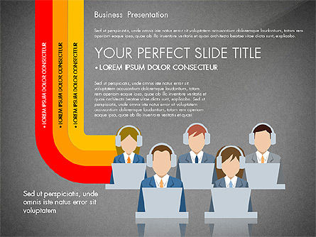 Online Course Presentation Concept, Slide 14, 03233, Education Charts and Diagrams — PoweredTemplate.com