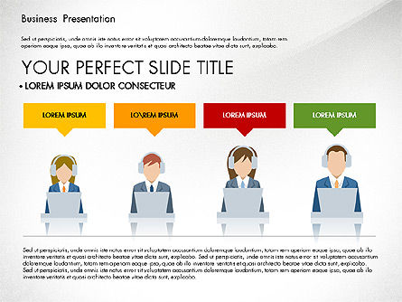 Online Course Presentation Concept, Slide 2, 03233, Education Charts and Diagrams — PoweredTemplate.com