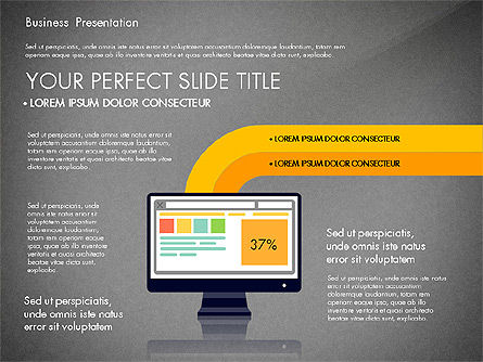 Online Course Presentation Concept, Slide 9, 03233, Education Charts and Diagrams — PoweredTemplate.com