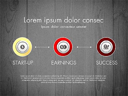 Startup Timeline Concept Diagram, Slide 9, 03234, Timelines & Calendars — PoweredTemplate.com