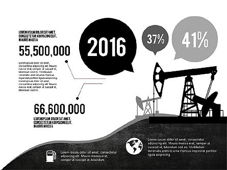 Oil and Gas Production Infographics, 03235, Infographics — PoweredTemplate.com