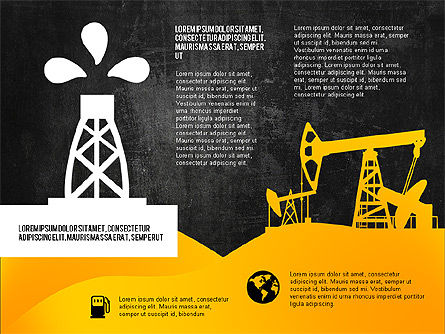Oil and Gas Production Infographics, Slide 13, 03235, Infographics — PoweredTemplate.com