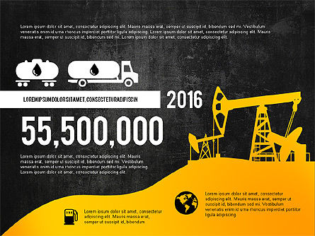 Oil and Gas Production Infographics, Slide 14, 03235, Infographics — PoweredTemplate.com