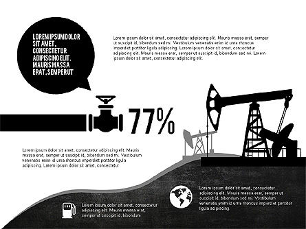 Oil and Gas Production Infographics, Slide 2, 03235, Infographics — PoweredTemplate.com