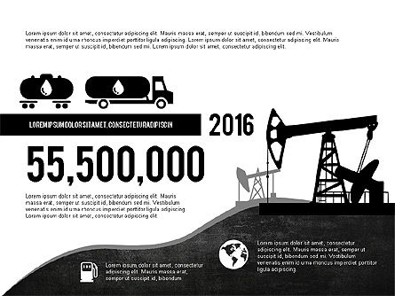 Oil and Gas Production Infographics, Slide 6, 03235, Infographics — PoweredTemplate.com