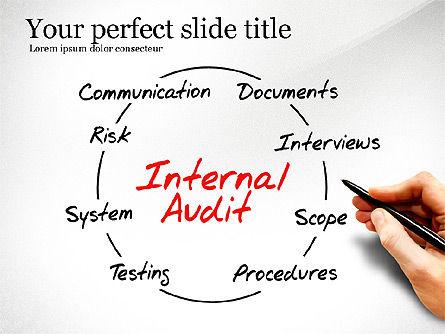 Internal Audit Diagram, 03236, Business Models — PoweredTemplate.com