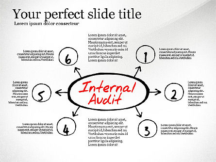 Internal Audit Diagram, Slide 6, 03236, Business Models — PoweredTemplate.com