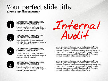 Internal Audit Diagram, Slide 8, 03236, Business Models — PoweredTemplate.com