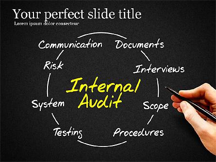 Internal Audit Diagram, Slide 9, 03236, Business Models — PoweredTemplate.com