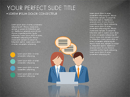 Business People Presentation Concept, Slide 11, 03239, Shapes — PoweredTemplate.com