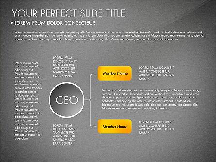 Organizational Chart, Slide 10, 03240, Organizational Charts — PoweredTemplate.com