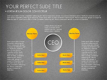Organizational Chart, Slide 11, 03240, Organizational Charts — PoweredTemplate.com
