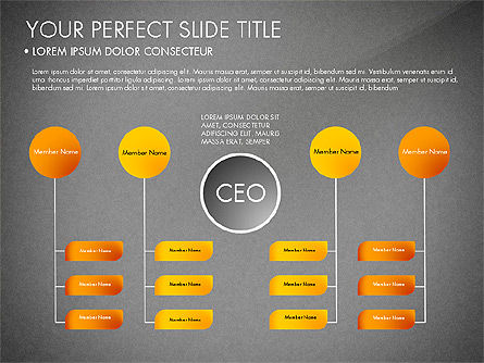 Organizational Chart, Slide 14, 03240, Organizational Charts — PoweredTemplate.com