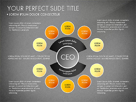 Organizational Chart, Slide 16, 03240, Organizational Charts — PoweredTemplate.com
