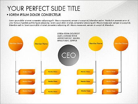 Organizational Chart, Slide 6, 03240, Organizational Charts — PoweredTemplate.com