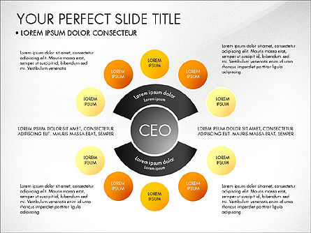 Organizational Chart, Slide 8, 03240, Organizational Charts — PoweredTemplate.com
