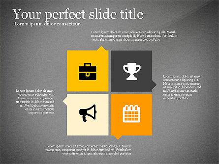 Four Concept, Slide 9, 03241, Shapes — PoweredTemplate.com