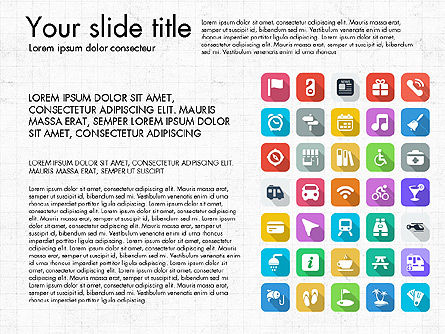 Lifestyle Icon Set, Slide 12, 03242, Icons — PoweredTemplate.com