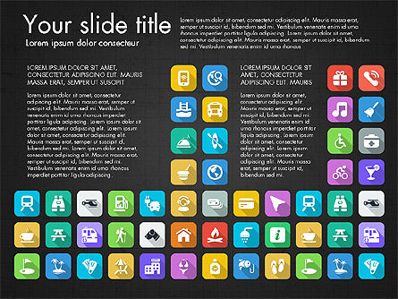 Lifestyle Icon Set, Slide 5, 03242, Icons — PoweredTemplate.com