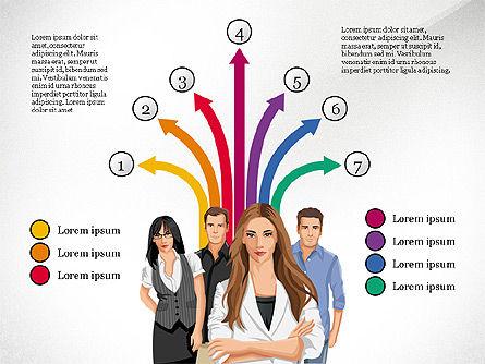 Process Diagrams: Ilustrasi Orang Dan Proses Panah #03243