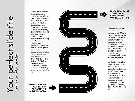 Road Shapes and Arrows, 03247, Stage Diagrams — PoweredTemplate.com