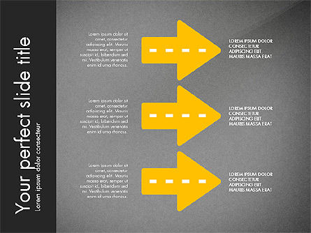 Road Shapes and Arrows, Slide 11, 03247, Stage Diagrams — PoweredTemplate.com