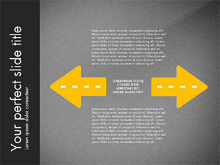 Road Shapes and Arrows, Slide 14, 03247, Stage Diagrams — PoweredTemplate.com