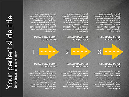 Road Shapes and Arrows, Slide 16, 03247, Stage Diagrams — PoweredTemplate.com