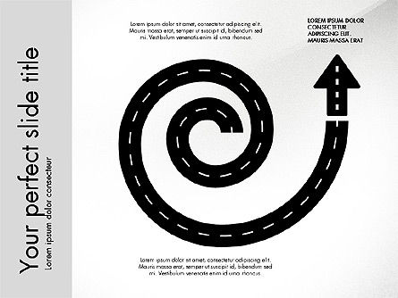 Road Shapes and Arrows, Slide 4, 03247, Stage Diagrams — PoweredTemplate.com