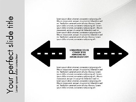Road Shapes and Arrows, Slide 6, 03247, Stage Diagrams — PoweredTemplate.com
