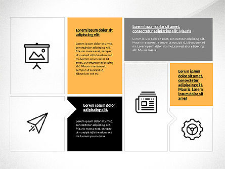 flat design presentation with shapes for powerpoint presentations, Powerpoint templates