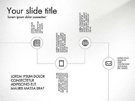 Flow Chart with Icons Concept, 03249, Flow Charts — PoweredTemplate.com