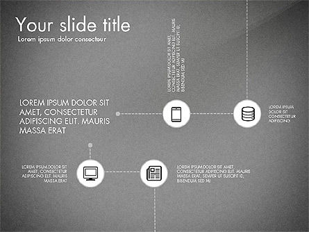 Flow Chart with Icons Concept, Slide 11, 03249, Flow Charts — PoweredTemplate.com