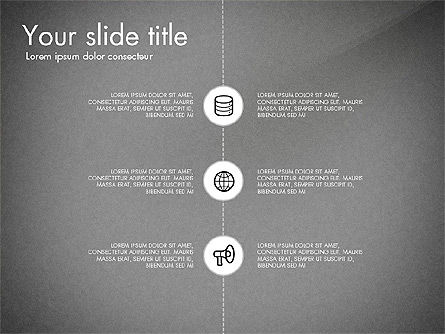 Flow Chart with Icons Concept, Slide 12, 03249, Flow Charts — PoweredTemplate.com