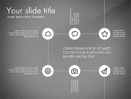 Flow Chart with Icons Concept, Slide 14, 03249, Flow Charts — PoweredTemplate.com