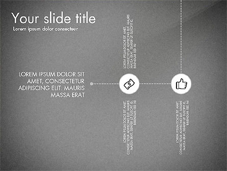 Flow Chart with Icons Concept, Slide 16, 03249, Flow Charts — PoweredTemplate.com