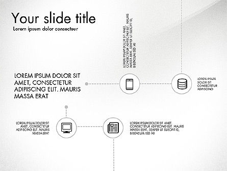 Flow Chart with Icons Concept, Slide 3, 03249, Flow Charts — PoweredTemplate.com