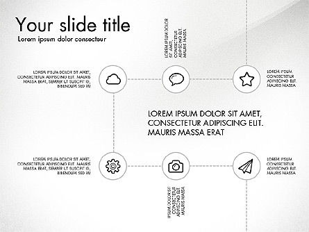 Flow Chart with Icons Concept, Slide 6, 03249, Flow Charts — PoweredTemplate.com