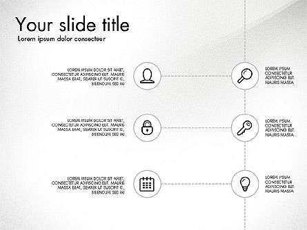 Flow Chart with Icons Concept, Slide 7, 03249, Flow Charts — PoweredTemplate.com