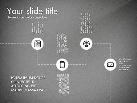 Flow Chart with Icons Concept, Slide 9, 03249, Flow Charts — PoweredTemplate.com