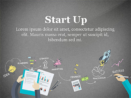 Startup Creative Presentation Template, Slide 9, 03251, Presentation Templates — PoweredTemplate.com