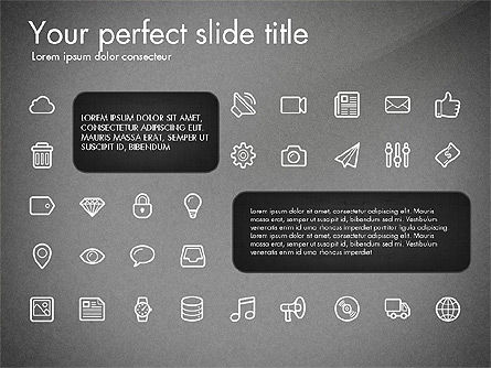 Thin Line Icons Collection, Slide 10, 03252, Icons — PoweredTemplate.com