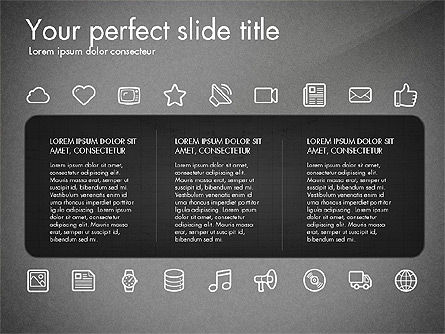 Thin Line Icons Collection, Slide 11, 03252, Icons — PoweredTemplate.com
