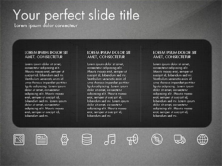 Thin Line Icons Collection, Slide 15, 03252, Icons — PoweredTemplate.com