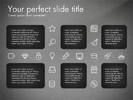 Thin Line Icons Collection, Slide 16, 03252, Icons — PoweredTemplate.com