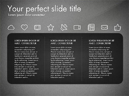 Thin Line Icons Collection, Slide 9, 03252, Icons — PoweredTemplate.com