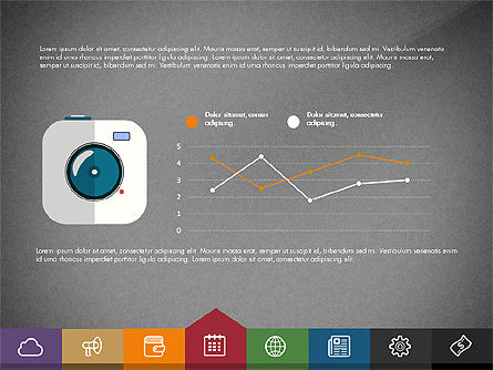 Creative Presentation Template with Tabs, Slide 12, 03253, Presentation Templates — PoweredTemplate.com