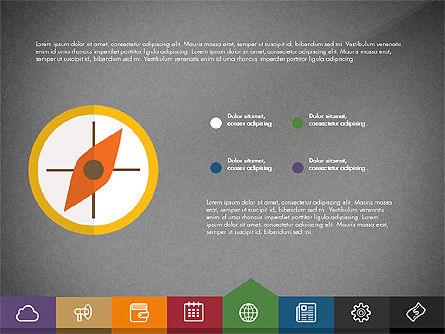 Creative Presentation Template with Tabs, Slide 13, 03253, Presentation Templates — PoweredTemplate.com
