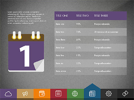 Creative Presentation Template with Tabs, Slide 14, 03253, Presentation Templates — PoweredTemplate.com